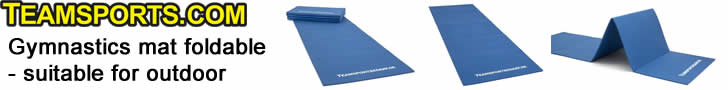 Gymnastics mat foldable