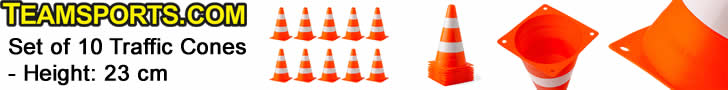 Set of 10 Traffic Cones