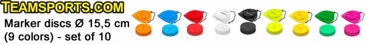 Marker discs 15,5 cm 9 colors